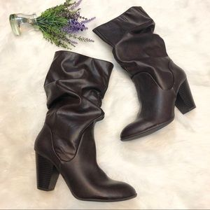 NEW Rampage Faux Leather Slouch Boots